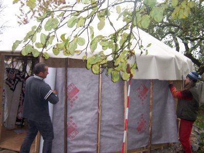 Hemp-yurt