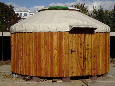 wooden-yurt outside